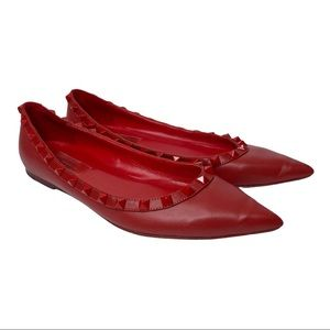 Valentino Rockstud Flat shoes in Red VGUC size 37